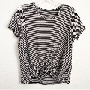 Madewell Stripe Knot Front Tee M